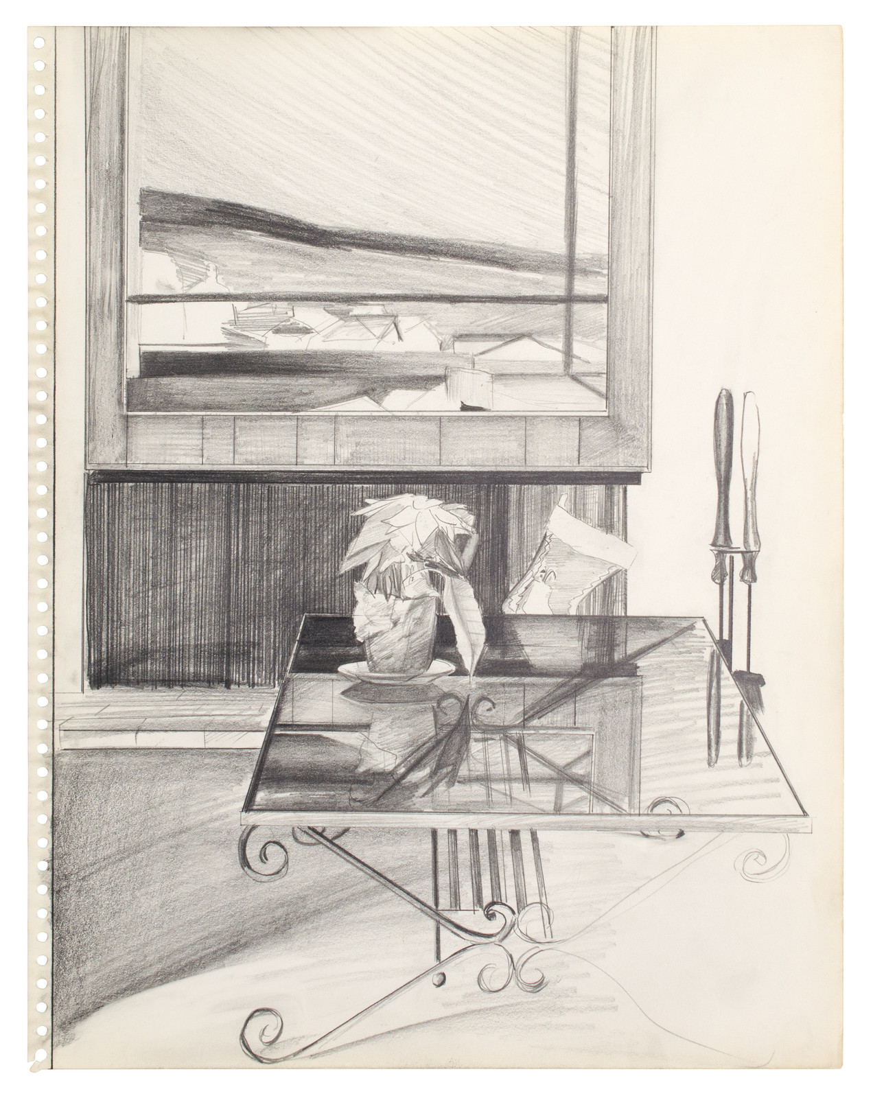 Patrick Angus, Untitled, n.a., pencil on paper, framed, 35,6 x 27,9 cm, Galerie Thomas Fuchs