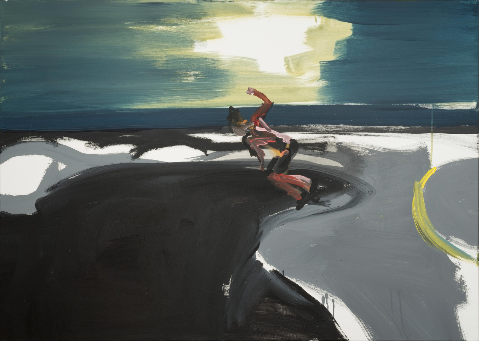 Rainer Fetting, Skater (Venice Beach), 2016, acrylic on canvas, 100 x 140 cm